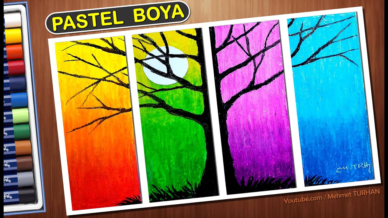 Pastel Boya Manzara Cizimi Pastel Boya Deniz Sahil Yelkenli Kayik Pastel Paint Scenery Drawing Youtube