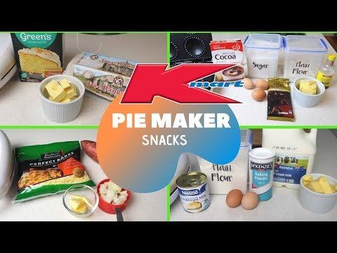 KMART PIE MAKER HACKS   PIE MAKER RECIPES   COOK WITH ME