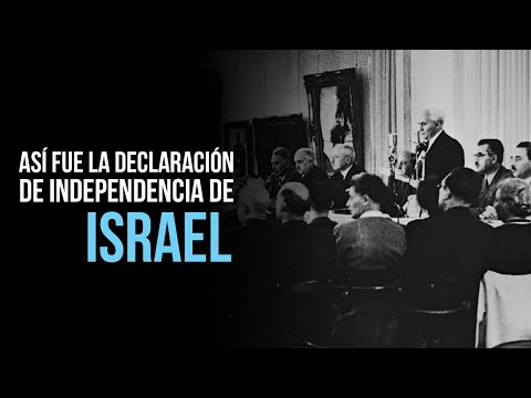 Enlace Judío - Declaración de Independencia de Israel por David Ben Gurión (Subtitulado)