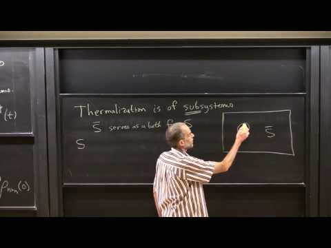 "Prof. David Huse, ""Quantum Thermalization"", Lecture 1(02) of 2"