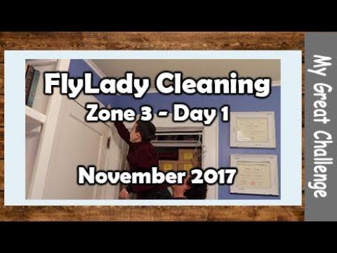 FlyLady Cleaning || Zone 3 - Day 1 || November 2017