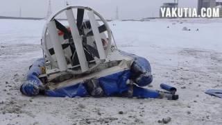 Суда На Воздушной Подушке Постоянно Ломаются Переправа Река Лена