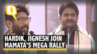 Hardik Patel and Jignesh Mevani Address Mamata Banerjee's Mega Opposition Rally in Kolkata