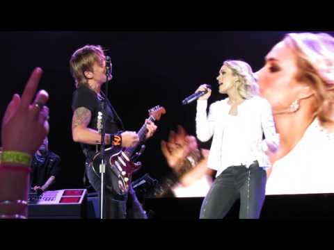 KEITH URBAN CARRIE UNDERWOOD THE FIGHTER  IN WELLINGTON 3122016