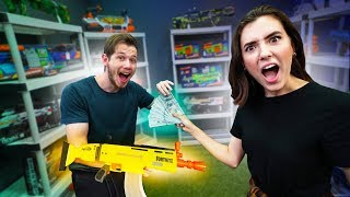 NERF Shopping Spree Battle Royale Challenge!