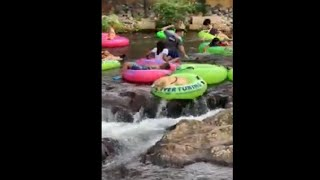 Dog On A River Tubing Adventure Almost Fell Down A Waterfall