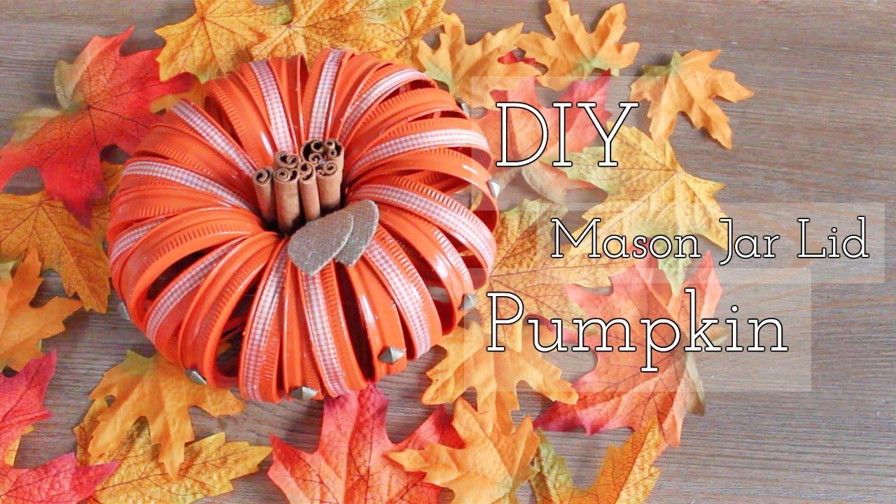 Diy Mason Jar Lid Pumpkin You