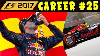 F1 2017 CAREER MODE PART 25: SPAIN GP - RED BULL RACING | 110% AI | INTERACTIVE LIVE STREAM