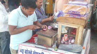 Jaipur best bhelpuri wala   save puri   vej sandwich