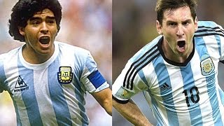 Lionel Messi vs Diego Maradona ● Best Dribblings & Skills HD