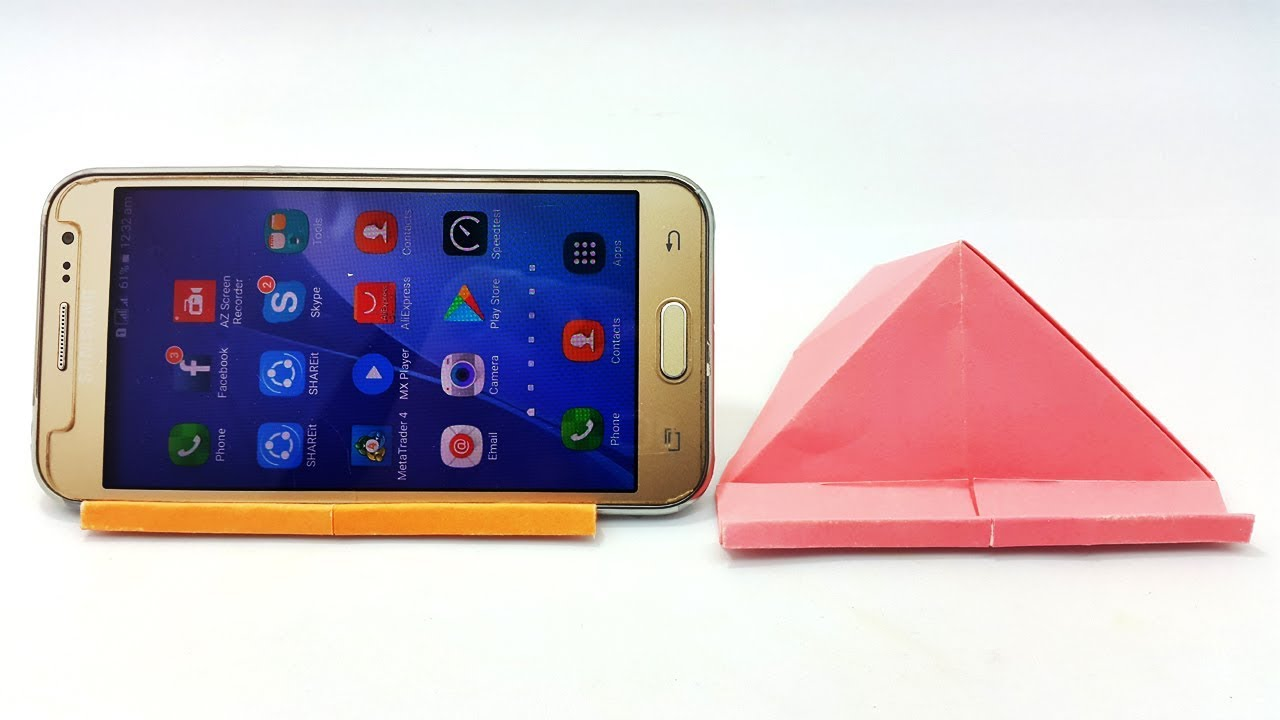 How to make a paper phone Stand/Holder? - YouTube | 720x1280