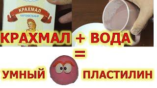 Как сделать умный (волшебный) пластилин или Неньютоновскую жидкость.