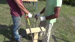 видео как связать арматуру под фундамент