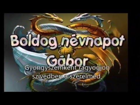 gábor névnapra köszöntő Névnapi verses köszöntők Gábor napra   YouTube gábor névnapra köszöntő