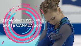 Alexandra Trusova (RUS) | 1st place Ladies | Free Skating | Skate Canada 2019 | #GPFigure