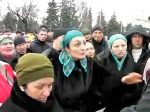 Митинг жителей Карачаево-Черкесии