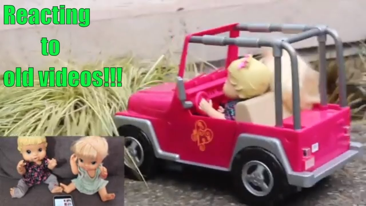 Baby Alive reacting to old videos / Bailey drives a car - YouTube