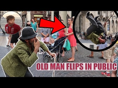 PAPI FAIT DES ACROBATIES | OLD MAN FLIPS IN PUBLIC [PART 2]