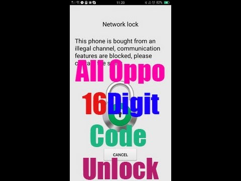How To Any Oppo NETWORK Unlock New security 16 Digit Code