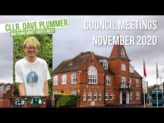 Waltham Abbey - Town and District Council meetings Nov 2020
