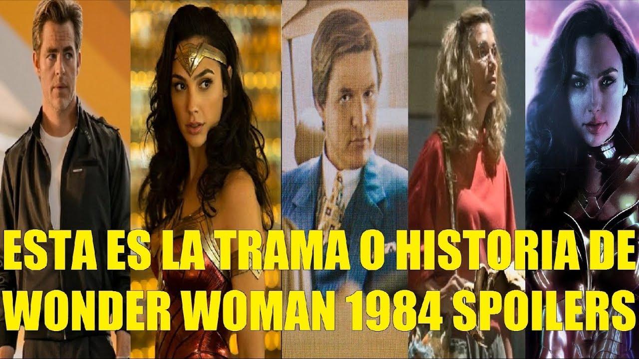 Ver Esta es la Trama o Historia de Wonder Woman 1984 Spoilers en Español