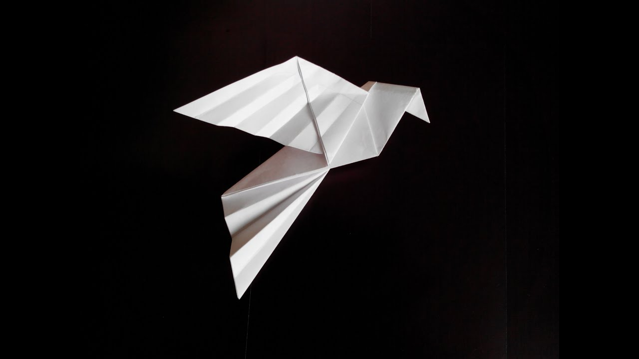 Голубь оригами, origami dove - YouTube - photo#6