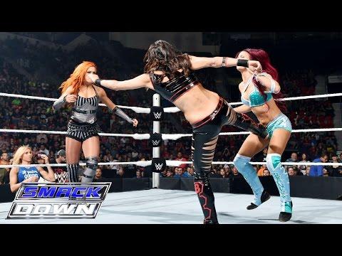 Sasha Banks vs. Brie Bella vs. Becky Lynch: SmackDown, Aug. 20, 2015