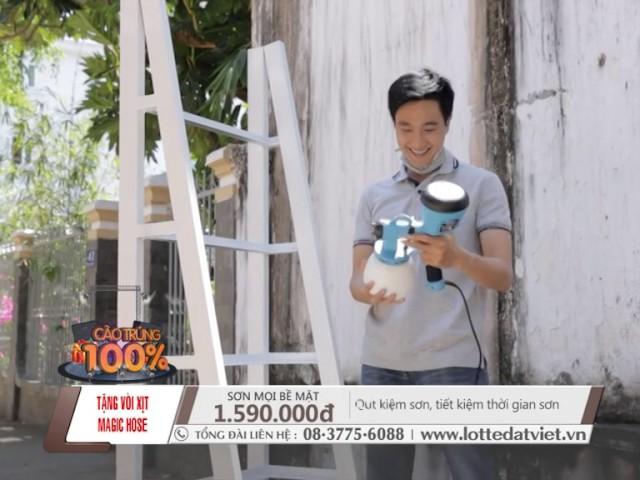 HAUPON-Máy phun sơn cầm tay đa năng Đài Loan (TẶNG:1 bộ vòi nước giãn nở)