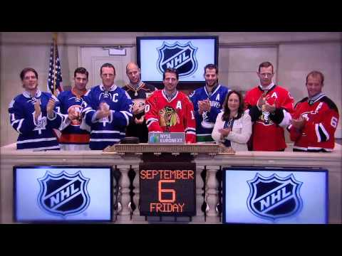 NHL Players Visit the NYSE