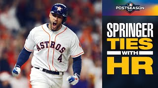 Astros' George Springer SMASHES game-tying home run vs. Yankees in ALCS Game 2 | MLB Highlights