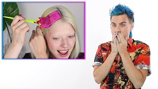 Hairdresser Reacts To People Dying Their Hair Neon