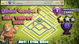 Global Number 1 Legendary Trophy Base 2019 | New Th12 Best Trophy Base 2019 /Anti 1 Star / Anti 2