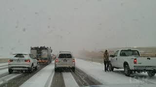 10-10-19 Denver Co- Season 1st Snow -Vehicles Losing Control-Cars Stuck-Heavy Snow-Nasty Rush Hour