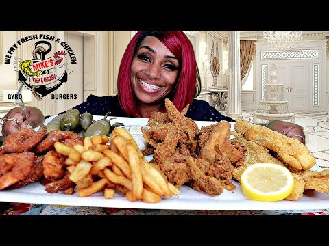 Mike's Fish & Chicken in Ohio⚠ Smacking and Chewing with mouth open
