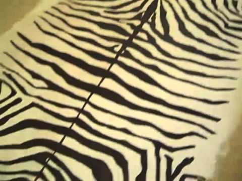How To Happy Hour  DIY Zebra Hide