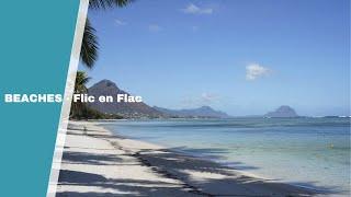 Der Strand Von Flic En Flac An Der Westküste Von Mauritius. Einer Der Größten öffentlichen Strände.