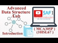 1 Advanced Data Structure Lab: Introduction