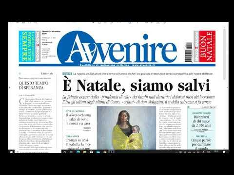 I giornali in edicola - la rassegna stampa 24/12/2020