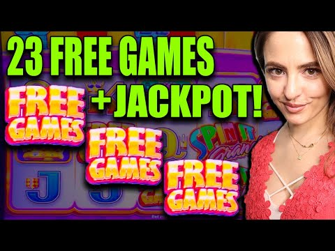 SPIN IT GRAND JACKPOT HANDPAY w/ 23 Free Games in Vegas!
