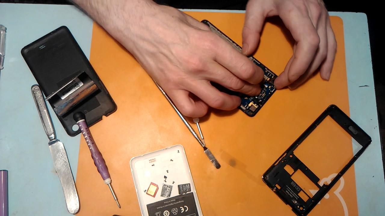 Highscreen Omega Q как разобрать,замена тачскрина,сенсорного .