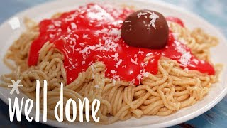 How to Make Cookie Dough Spaghetti and Meatballs | Recipes | Well Done