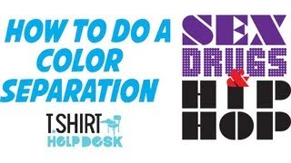How to do a Color Separation using Illustrator CS6