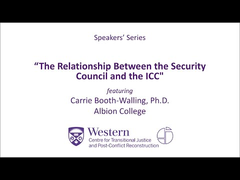 """Carrie Booth-Walling, """"The Relationship Between the Security Council and the ICC"""""""