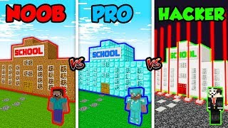 Minecraft NOOB vs. PRO vs. HACKER: SCHOOL in Minecraft MAP! (Animation)