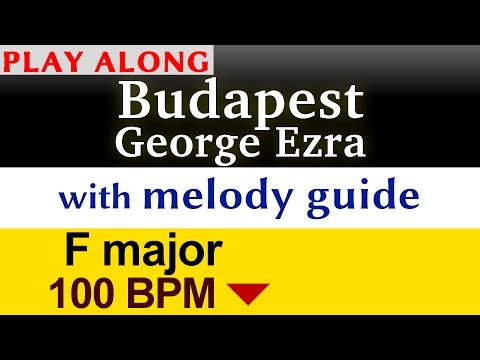"""Budapest"" [George Ezra] Play along karaoke (slower)"