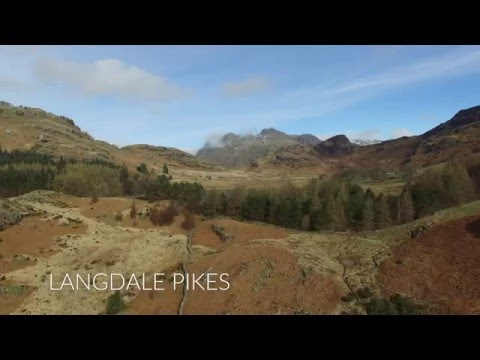 Blea Tarn and Little Langdale From a Drone