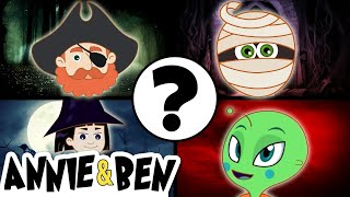 Halloween Funny Puzzle Game | WHO AM I? | Educational Cartoons for Children by Annie and Ben
