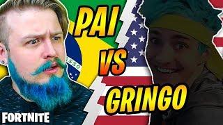PAI vs GRINGO - FIZEMOS X1 NO MODO PARQUINHO (Fortnite Battle Royale)