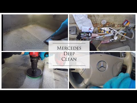 Deep Cleaning a Filthy Daily Driver - Detailing a Disaster Interior of a Mercedes!
