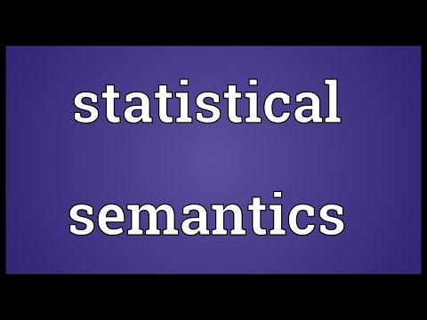 Statistical semantics Meaning